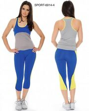 Women's Athletic Gym Exercise Yoga Clothes Running Yoga Fitness Sports Suits
