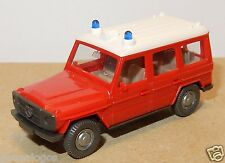 MICRO WIKING HO 1/87 MERCEDES G 350 4X4 ROUGE SAPEURS POMPIERS URGENCE