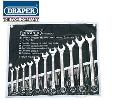 DRAPER TOOLS 11pc HI-TORQ AF Combination Spanner Set Tractor/vintage car 29546
