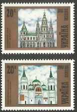 Ukraine - Kirchen (III)  postfrisch 1998 Mi. 280-281