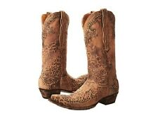 NEW IN BOX OLD GRINGO CLARITA L148-110 OCHRE LEOPARD WOMENS COWBOY BOOTS SZ 9.5