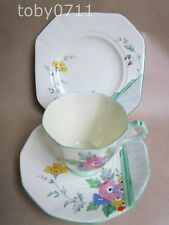 PLANT TUSCAN CHINA ART DECO FLORAL TRIOS PATTERN 4000A