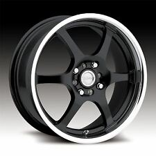4 New 14x5.5 +35 Raceline 126 Black Machine 4x100 4x114.3 Wheels Rims
