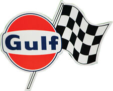 Gulf Gas Oil Racing Decal Checkered Flag Right Hand RH GT40 Ford Chevy Hotrod GM