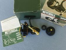 RARE VINTAGE MITCHELL 408G-DL SPINNING REEL-LTD 24K GOLD PLATED PARTS-NOS IN BOX