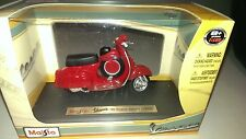 VESPA 90 SUPER SPRINT SS90 1965 rouge Maisto Scooter Collection Ornement PIAGGIO