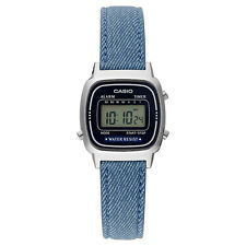 Ladies Casio Retro denim look digital watch LA670WEL-2A2EF