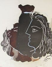 GEORGE BRAQUE - ODE TO THE URN - ORIGINAL COLLOTYPE - 1963 - FREE SHIP IN US !!!