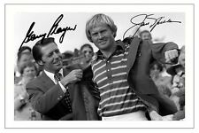 GARY PLAYER & JACK NICKLAUS GOLF SIGNED AUTOGRAPH PHOTO PRINT
