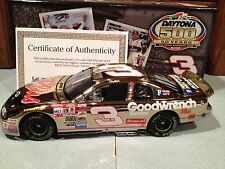 1998 Action Dale Earnhardt #3 GM Goodwrench Daytona 500 Winner 1/24 Gold Chrome