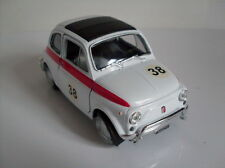 Fiat 500 Race Version weiß, Welly Auto Modell ca. 1:35-1:38, Neu, OVP