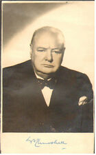 WINSTON CHURCHILL British Prime Minister Autograph Signed Postcard UACC DEALER