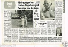 Coupure de presse Clipping 1981 (2 pages) Louis Leprince-Ringuet