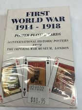 First World War Historical Poster Playing Cards - Great Veterans Gift
