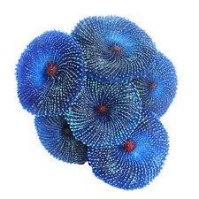 Decoration Aquarium Artificial Resin Coral Sea Plant Ornament Blue
