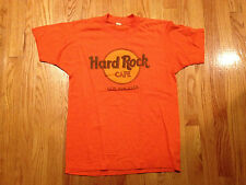 Vintage Hard Rock Cafe Los Angeles T-Shirt Sz M 50/50 orange logo