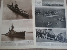 Photo article Russia USSR navy visit to Britain 1955