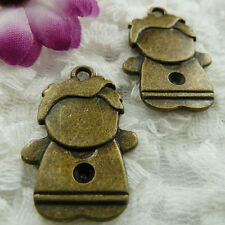 Free Ship 84 pieces bronze plated boy charms 28x18mm #367