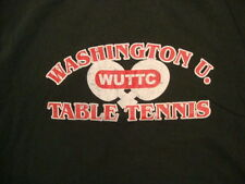 Washington U WUTTC Table Tennis Ping Pong Fan Dark Green T Shirt M