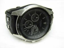 Men's Large FOSSIL Chronograph Water Resistant Watch w/ New Battery