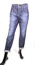 GJ9-34 Esprit Boyfriend Jeans Denim blau W29 L29 tapered leg Stretch Bundfalten
