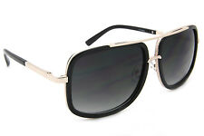 Square Oversized Fashion Sunglasses Smoked Lens Men Women Designer Frames