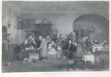"Vintage Etching of ""The Rent Day"" by John Madden Sculp, Wilkie, Pinxit"