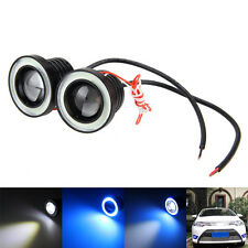 2x 2.5 Zoll Glass Beamer LED Nebel Licht w/ Blau LED Tube Halo Angel Auge Ring