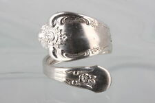 STERLING SILVER WM. A ROGERS ONEIDEA LTD. SPOON RING COSTUME SIGNED 5653