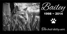 Personalized Pet Stone Memorial Grave Marker Granite Human Plaque Dog Cat 2577
