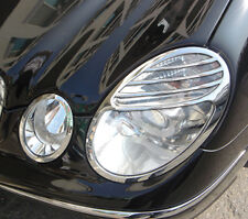 MERCEDES BENZ E CLASS 4 DOOR SALOON W211 NEW CHROME HEADLIGHT TRIMS 2002 - 2006