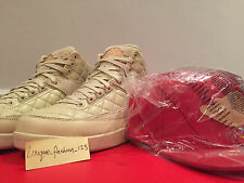NIKE Air Jordan Retro 2 solo DON C US 15 UK 14 49,5 IN PELLE ROSSA CAPPELLO Bin Beach