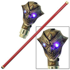 Malevolent Golden Two Faced Bael  Demon Cane Walking Stick