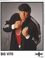 Big Vito Signed WCW Promo 8x10 Photo