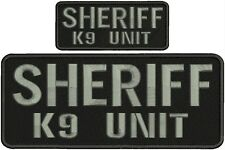 """SHERIFF K-9 UNIT embroidery patch  4x10"""" and 2x5 hook on back"""