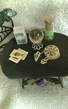 Tiny Conjure Room Tiny Tarot Crystal Ball Pendulum Board Haunted Doll House