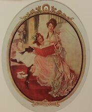 """Artist Proof F X Leydendecker The Story Book 20"""" x 14"""" matted Colliers 1906"""