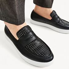 ZARA studded leather slip on shoes UK9/43/US10 Lanvin Balmain Givenchy Zanotti