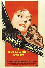 Vintage Sunset Boulevard de Hollywood Historia Movie Poster A3 impresión