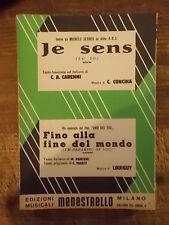 """SPARTITO SECHER """"JE SENS"""" + DAL FILM UNO DEI TRE """"FINO ALLA FINE DEL MONDO"""""""