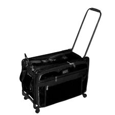 Tutto Black 24 Inch Sewing Embroidery Machine Trolley Case On Wheels New