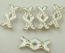 5pcs silver Plated  Spacer Bead Decorative Accessories 3 holes  q2zs