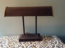 Antique Large Piano Bankers Art Deco Metal Desk Lamp Brass VTG Works