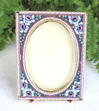 GORGEOUS VTG LILAC PURPLE MICRO MOSAIC PICTURE FRAME