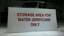 Land Rover Defender 90 110 Military Wolf Water Jerrycan Location Decal RRC8379