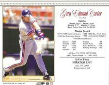 "Gary Carter - Montreal Expos Hall of Fame 8"" x 10"" Supercard"