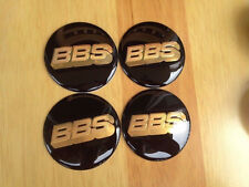 4PCS Wheel Center Hub Caps Emblem Badge Decal Stickers for BBS Golden/Black 60mm