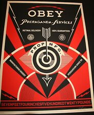 SHEPARD FAIREY ♦ PROPAGANDA EYE SCREENPRINT SIGNIERT N/450 OBEY GIANT GIANT