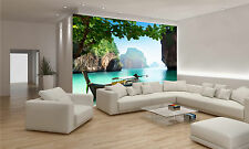 Boat on Small Island Wall Mural Photo Wallpaper GIANT DECOR Paper Poster