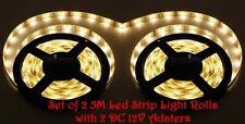 Set of 2 X 5 M (10 M) LED Strip Light Warm White with 2 DC 12V 1Amp Adapters